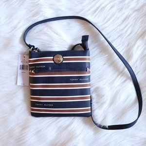 Tommy Hilfiger Brown Navy Blue Crossbody